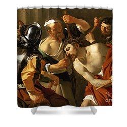 Crowning With Thorns Shower Curtain by Dirck van Baburen