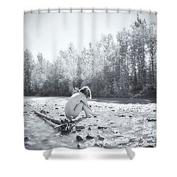 Cry Me A River Shower Curtain by Ian MacDonald
