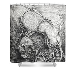 Ctulhu Seedpods Shower Curtain by Otto Rapp