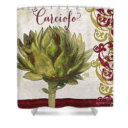 Cucina Italiana Artichoke Shower Curtain by Mindy Sommers