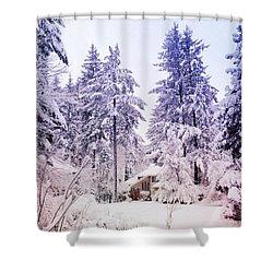 Cul-de-sac Shower Curtain by Anna Porter