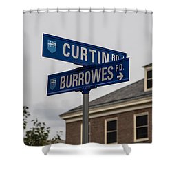 Curtin And Burrowes Penn State  Shower Curtain by John McGraw