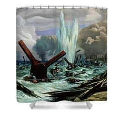 D Day Shower Curtain by Orville Norman Fisher