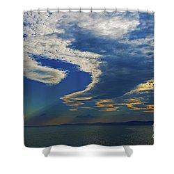 Daily Gratitude... Shower Curtain by Nina Stavlund