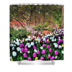 Dallas Arboretum Shower Curtain by Tamyra Ayles