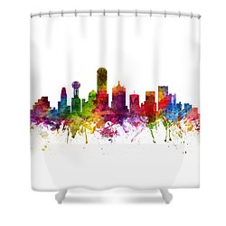 Dallas Cityscape 06 Shower Curtain by Aged Pixel