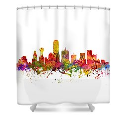Dallas Cityscape 08 Shower Curtain by Aged Pixel