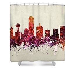 Dallas Cityscape 09 Shower Curtain by Aged Pixel
