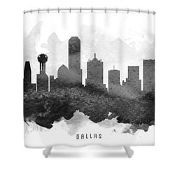 Dallas Cityscape 11 Shower Curtain by Aged Pixel