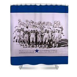 Dallas Cowboys Shower Curtain by Shawn Stallings