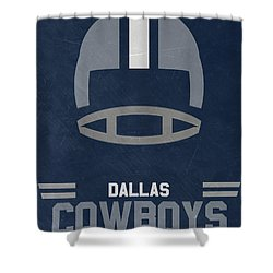 Dallas Cowboys Vintage Art Shower Curtain by Joe Hamilton