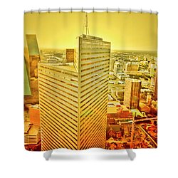 Dallas Gold Shower Curtain by Douglas Barnard