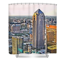 Dallas Hdr Shower Curtain by Douglas Barnard