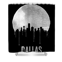 Dallas Skyline Black Shower Curtain by Naxart Studio