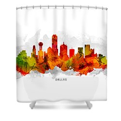 Dallas Texas Cityscape 15 Shower Curtain by Aged Pixel