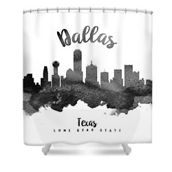 Dallas Texas Skyline 18 Shower Curtain by Aged Pixel