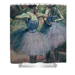Dancers In Violet  Shower Curtain by Edgar Degas