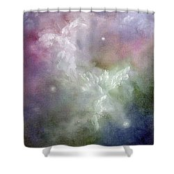 Dancing Angels Shower Curtain by Marina Petro