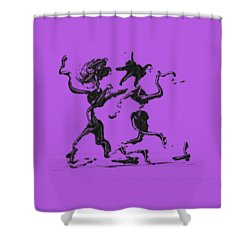 Dancing Couple 1 Shower Curtain by Manuel Sueess