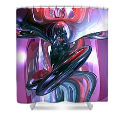 Dancing Hallucination Abstract Shower Curtain by Alexander Butler