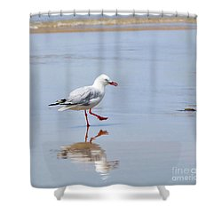 Dancing In Time With My Reflection Shower Curtain by Kaye Menner