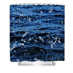 Dancing Water Shower Curtain by Debbie Oppermann