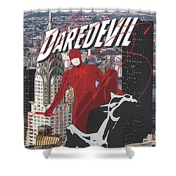 Daredevil Shower Curtain by Troy Arthur Graphics