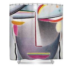 Dark Buddha Shower Curtain by Alexej von Jawlensky