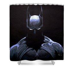 Dark Knight Shower Curtain by Marcus Quinn