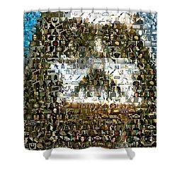 Darth Vader Mosaic Shower Curtain by Paul Van Scott