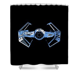 Darth Vaders Tie Figher Advanced X1 Tee Shower Curtain by Edward Fielding