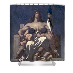 Daumier: Republic, 1848 Shower Curtain by Granger