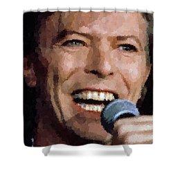 David Bowie Shower Curtain by Samuel Majcen