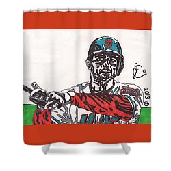 David Wright 2 Shower Curtain by Jeremiah Colley