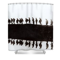 Dawn March Shower Curtain by Private Collection