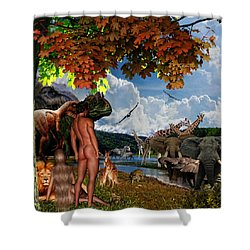 Day 6 Shower Curtain by Lourry Legarde