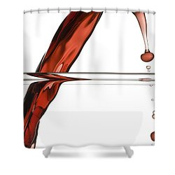 Decanting Wine Shower Curtain by Frank Tschakert