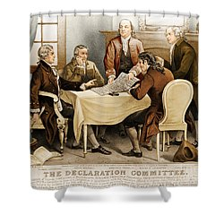 Declaration Committee 1776 Shower Curtain by Photo Researchers