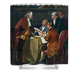 Declaration Committee Shower Curtain by Granger