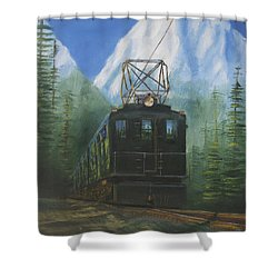 Deep In The Cascades Shower Curtain by Christopher Jenkins