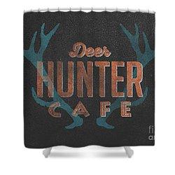 Deer Hunter Cafe Shower Curtain by Edward Fielding