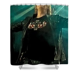 Def Lappard's Joe Elliott Shower Curtain by David Patterson