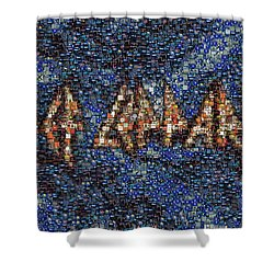 Def Leppard Albums Mosaic Shower Curtain by Paul Van Scott