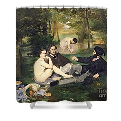 Dejeuner Sur L Herbe Shower Curtain by Edouard Manet
