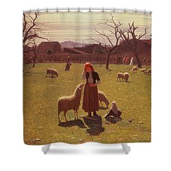 Deluded Hopes Shower Curtain by Giuseppe Pellizza da Volpedo