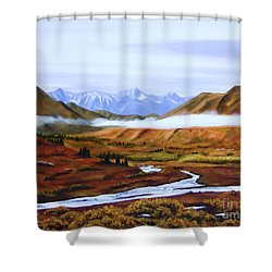 Denali Autumn Shower Curtain by Mary Rogers