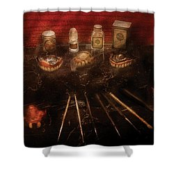 Dental Lab - Denture Repair  Shower Curtain by Mike Savad