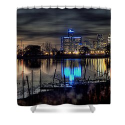 Detroit Reflections Shower Curtain by Nicholas  Grunas