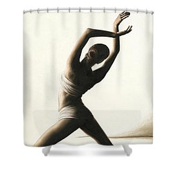 Devotion To Dance Shower Curtain by Richard Young