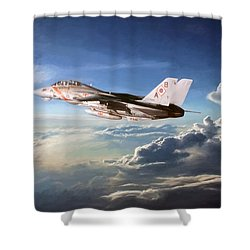 Diamonds In The Sky Shower Curtain by Peter Chilelli